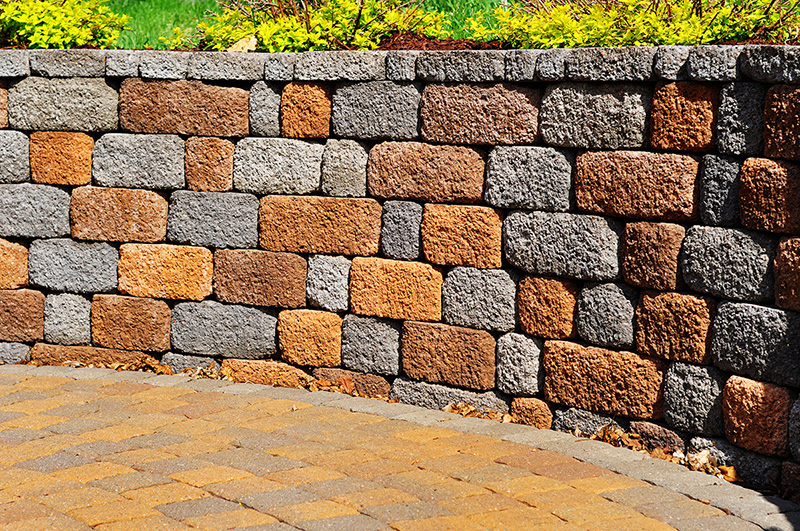 Retaining wall and patio,Retaining wall and patio
